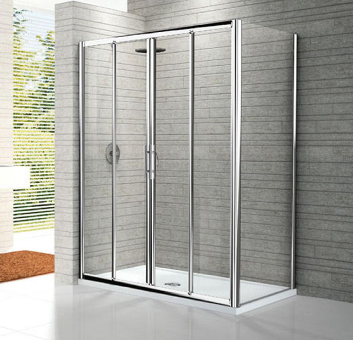 Novellini lunes four section sliding shower enclosures for Novellini shower doors