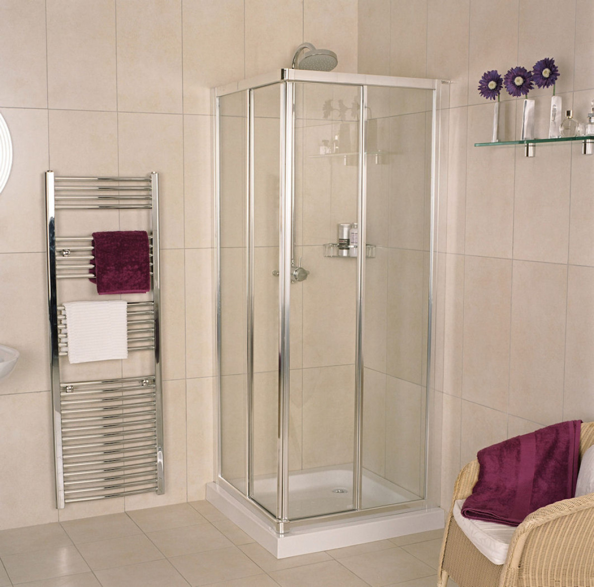 Roman Collage 760 800mm Corner Entry Shower Enclosure Cr13s