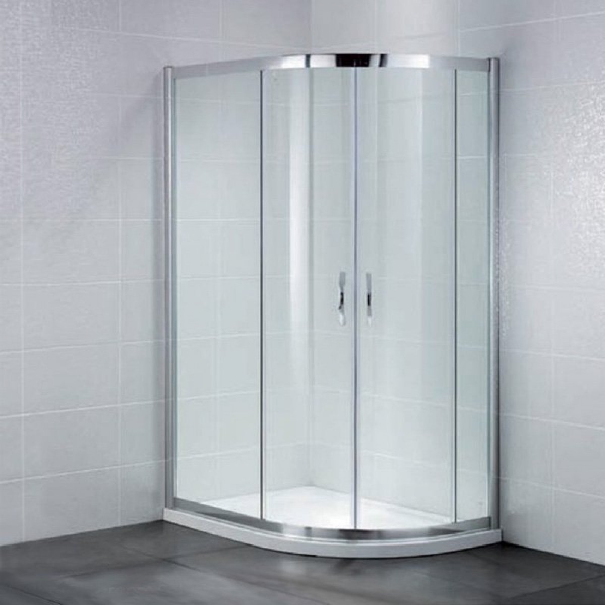 April Identiti2 Offset Double Door Quadrant Shower