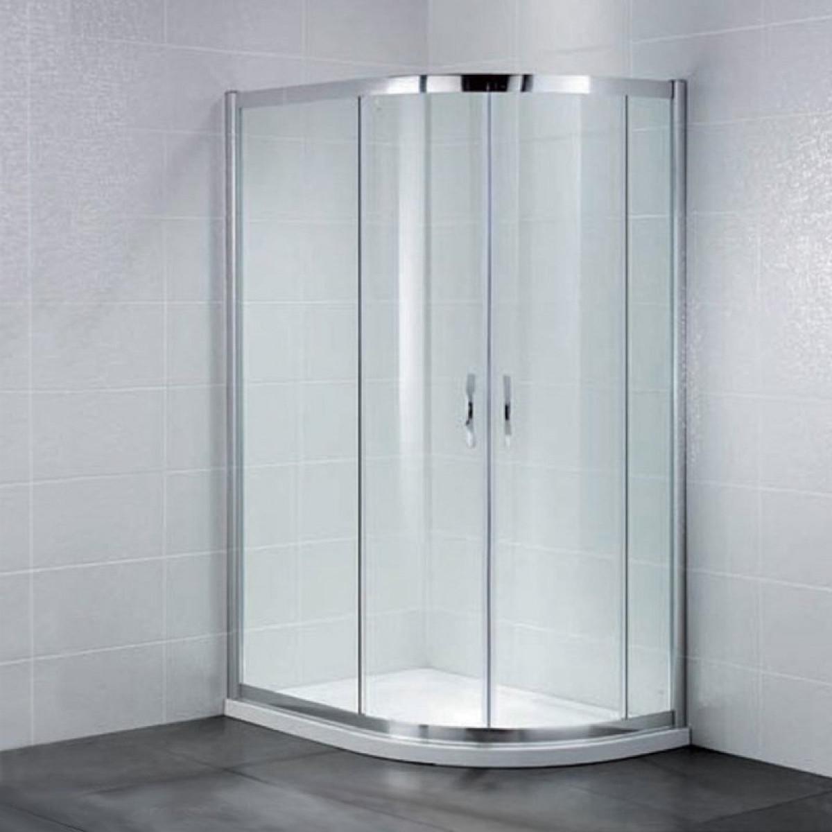 April Identiti2 Offset Double Door Quadrant Shower