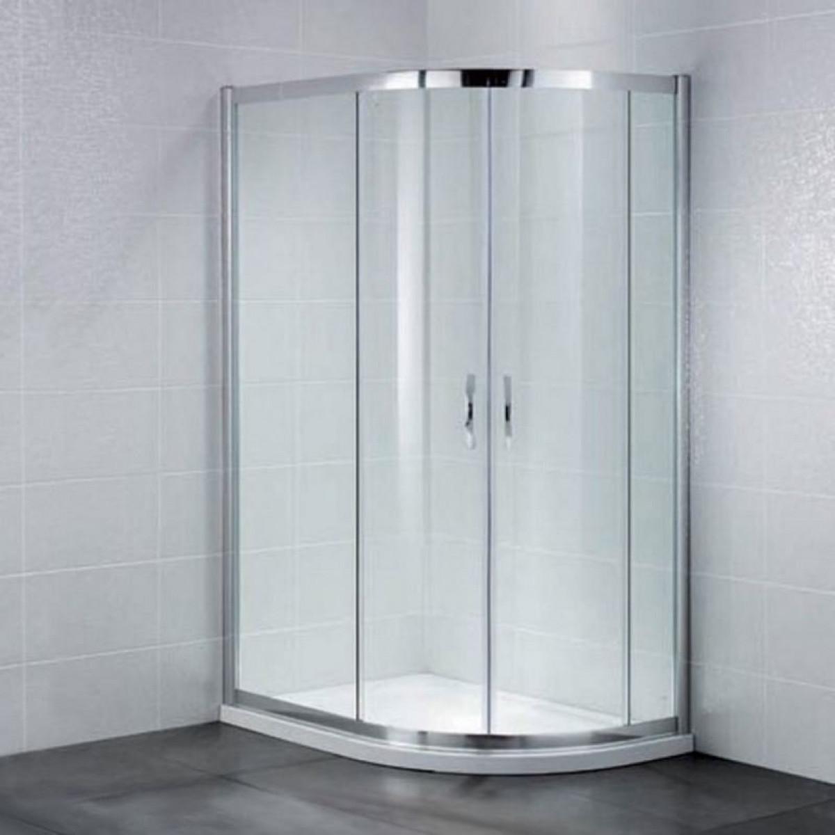 April identiti2 offset double door quadrant shower for Door quadrant