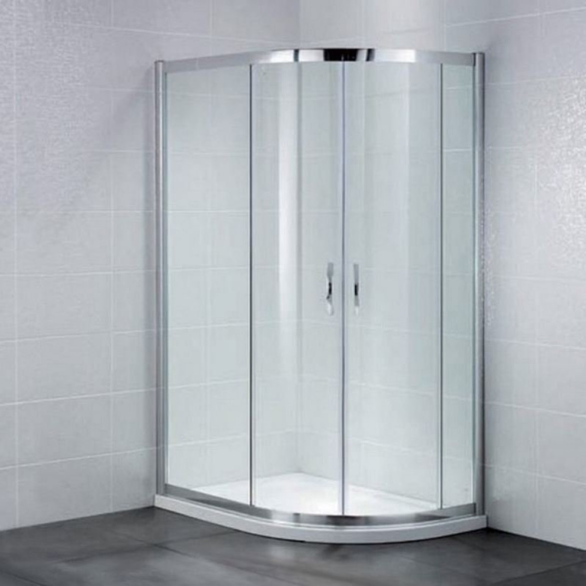 900mm x 760/800mm Offset Quadrant Shower Enclosures