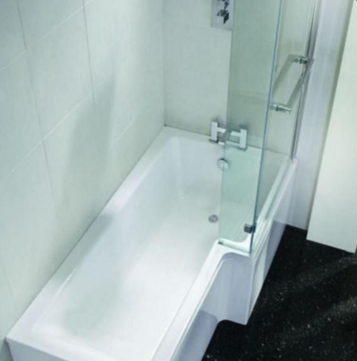 April L Shape Right Hand 1800mm Shower Bath -