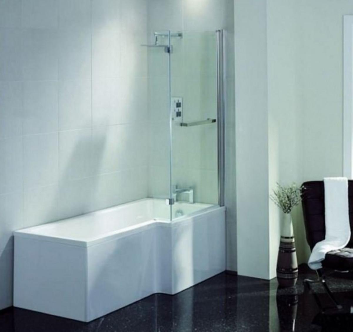 April L Shape Right Hand 1800mm Shower Bath | 28C1801R
