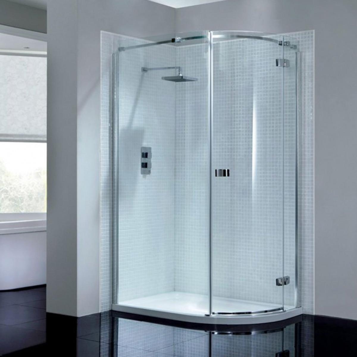 April Prestige2 Frameless Single Door Offset Quadrant Shower ...