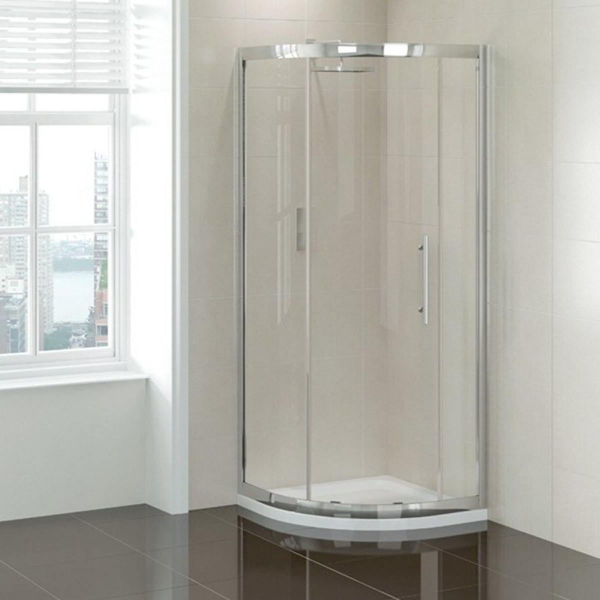 April Prestige 1200x900 Single Door Offset Quadrant Shower