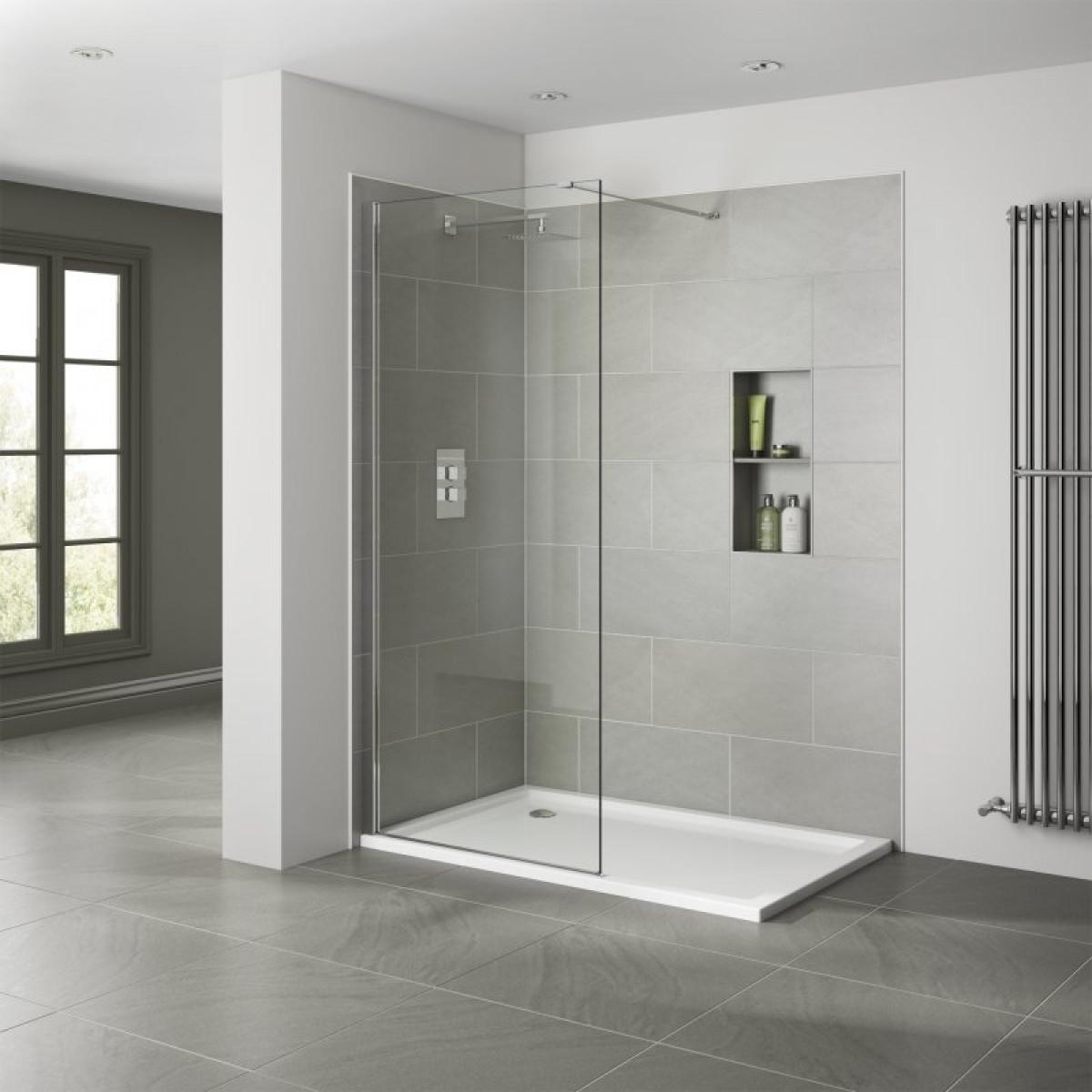 April prestige 1200mm wetroom panel ap8416s for Wet room shower screen 400mm