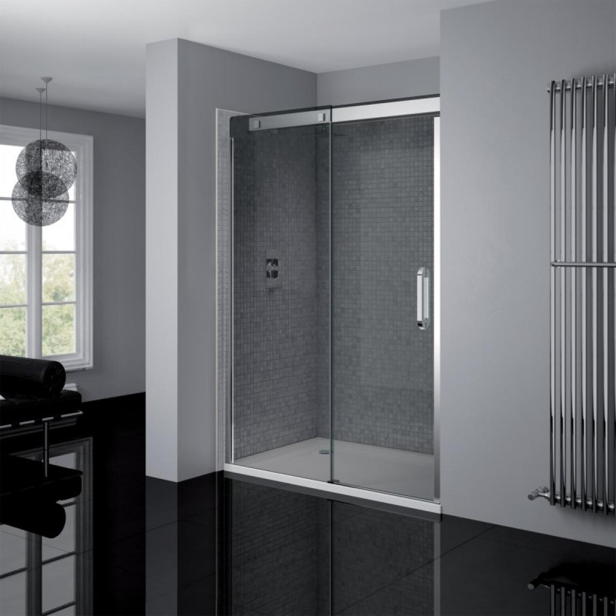 April Prestige Frameless 1200mm Smoked Glass Sliding Door Ap8802l Smk