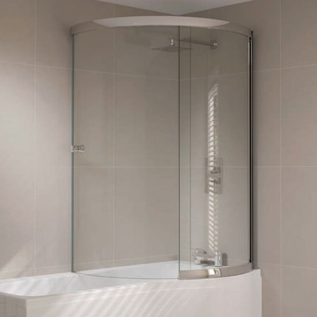 April Prestige P Shape Right Hand Sliding Bath Screen