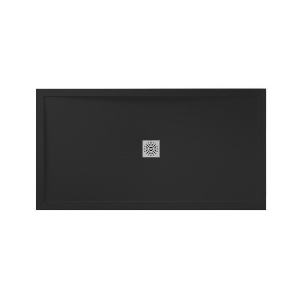 April Waifer Slate Effect Black 1200 x 700mm Shower Tray | 557/999 -