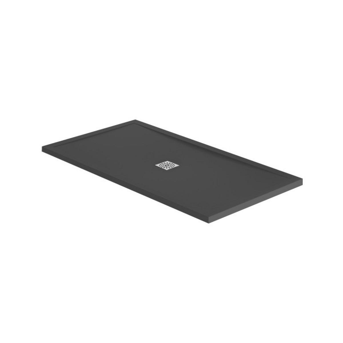 april waifer slate effect black 1400 x 900mm shower tray. Black Bedroom Furniture Sets. Home Design Ideas