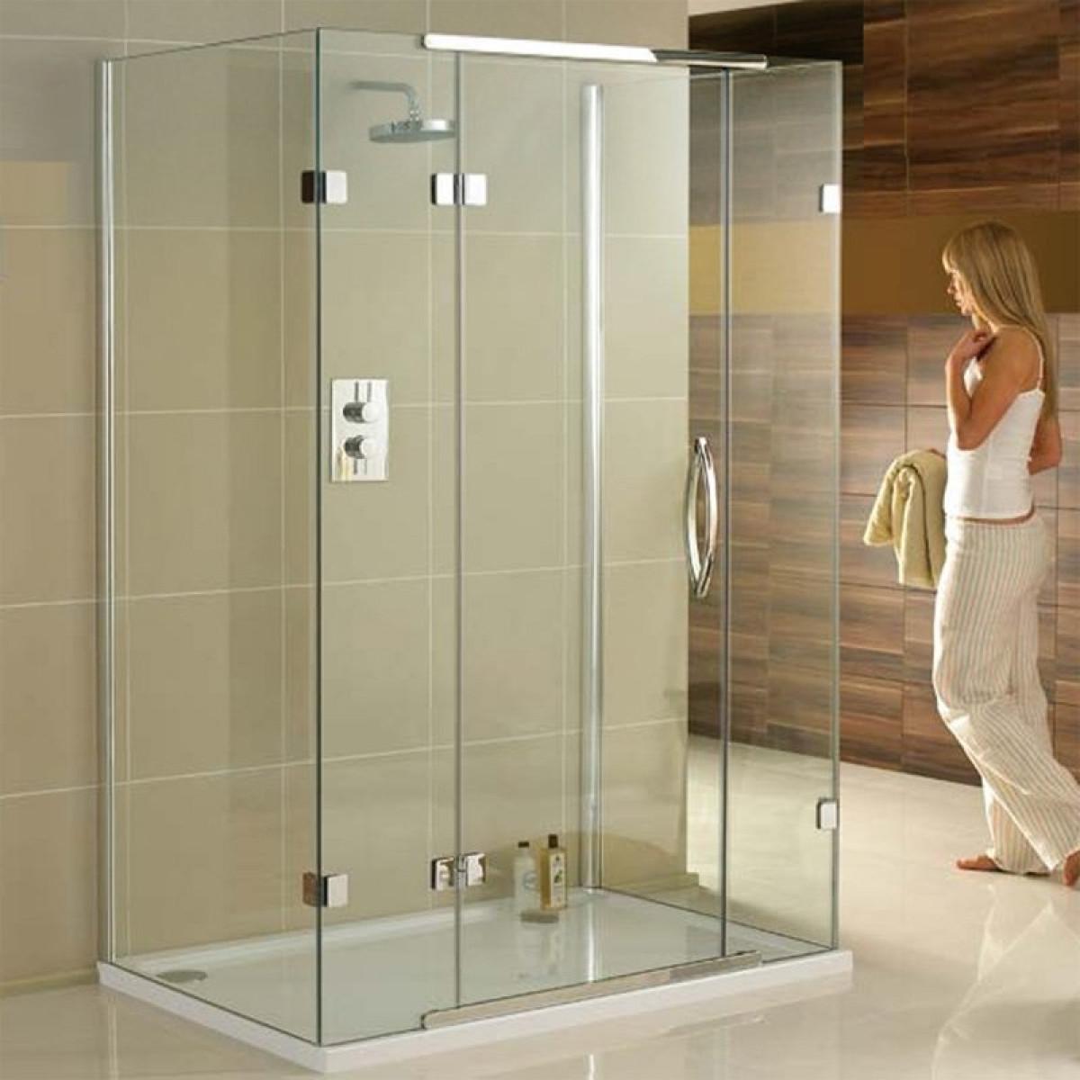 Aquadart 1200 X 900mm 3 Sided Shower Enclosure