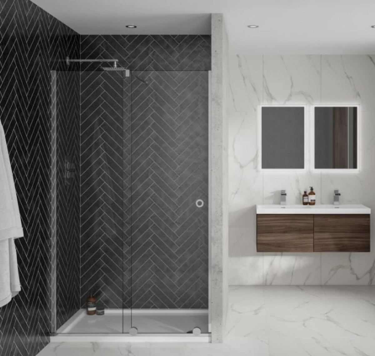 Aquadart Rolla 8 1100mm Sliding Frameless Shower Door