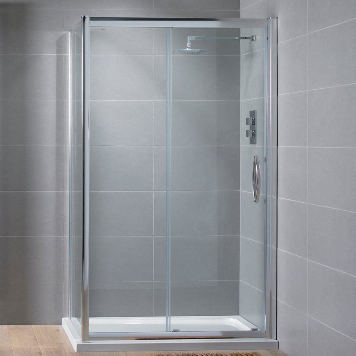 Aquadart venturi8 1200mm sliding shower door for 1200mm shower door sliding