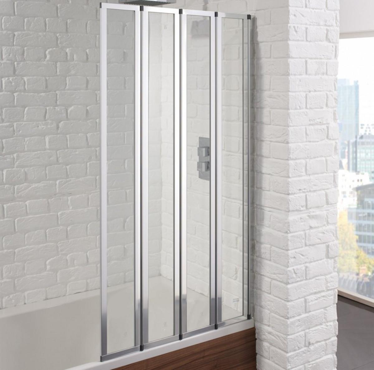 Shower Bath Screen Seal. 4 5 Fold Pivot Folding Bath Shower Screen ...