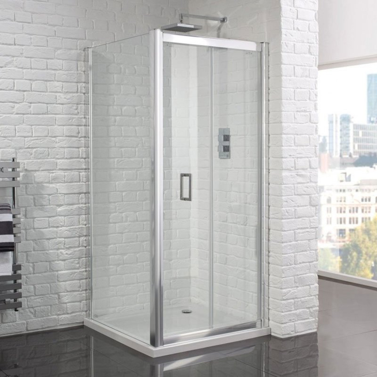Aquadart venturi 6 frameless 1000mm bifold shower door for 1000mm shower door