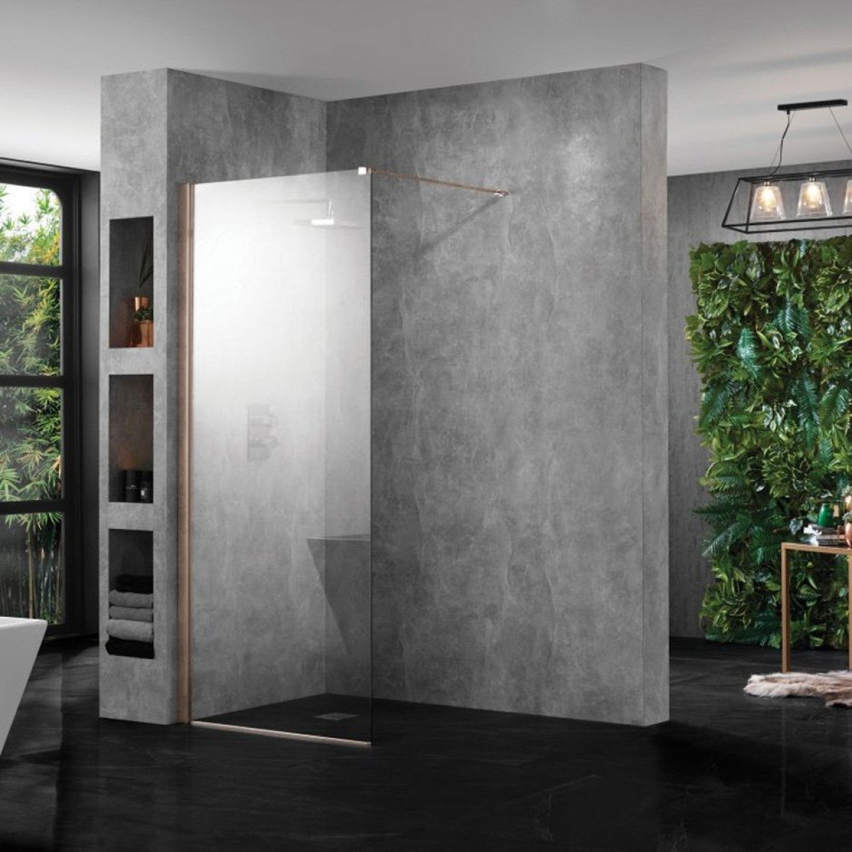 in drain image glass nero enclosure room wetroom panel rooms inc milano and wet showers walk shower recessed enclosures return