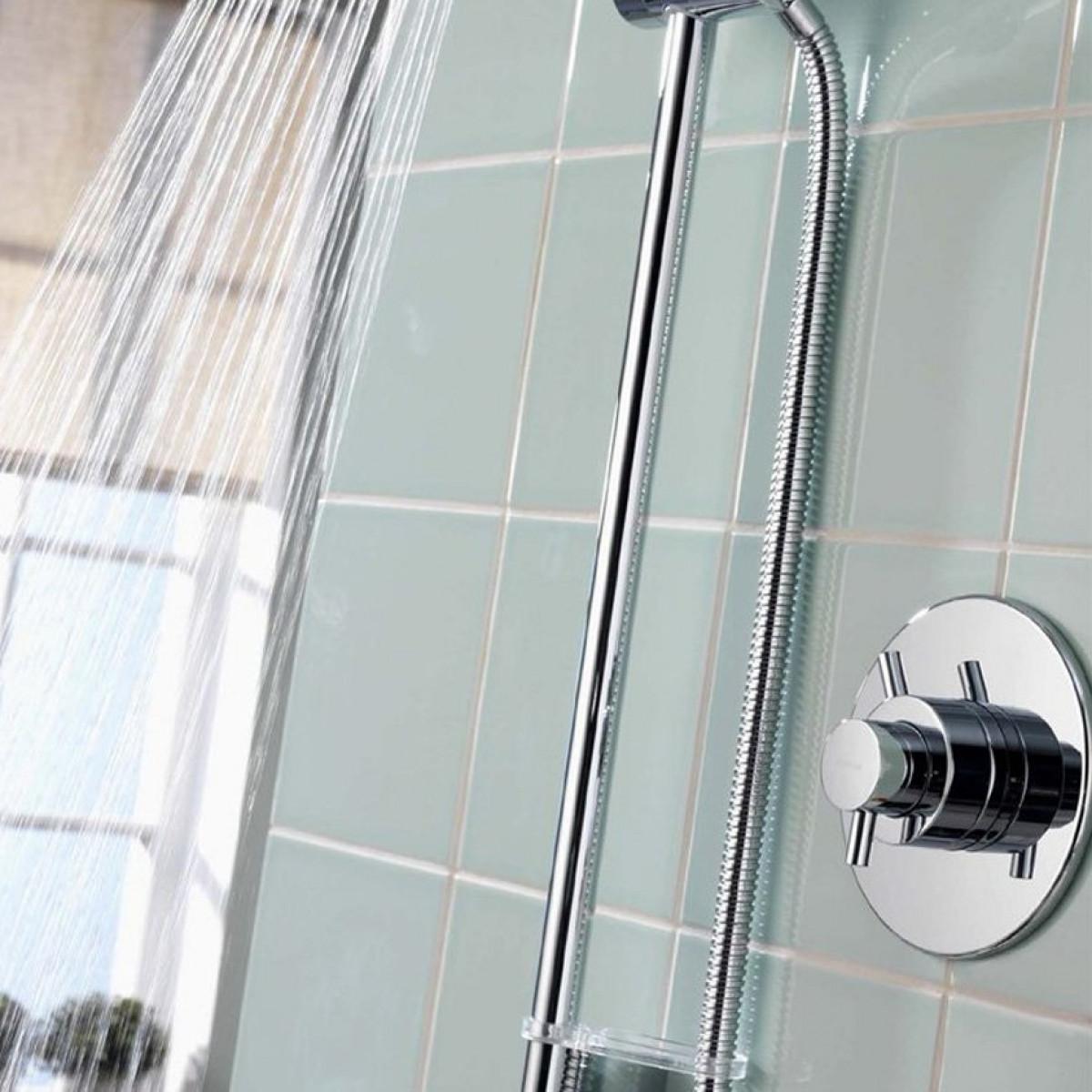 aqualisa aspire concealed shower with adjustable 105mm. Black Bedroom Furniture Sets. Home Design Ideas