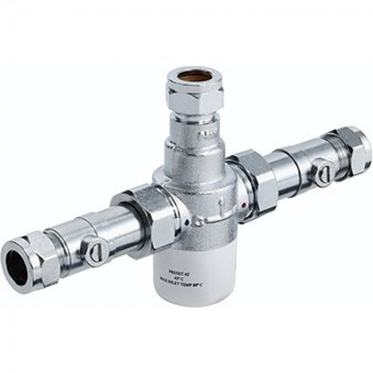 U Type Chrome Electric Water Heater Mixing Valve Single: Bristan 15mm TMV3 Thermostatic Mixing Valve With Isolation