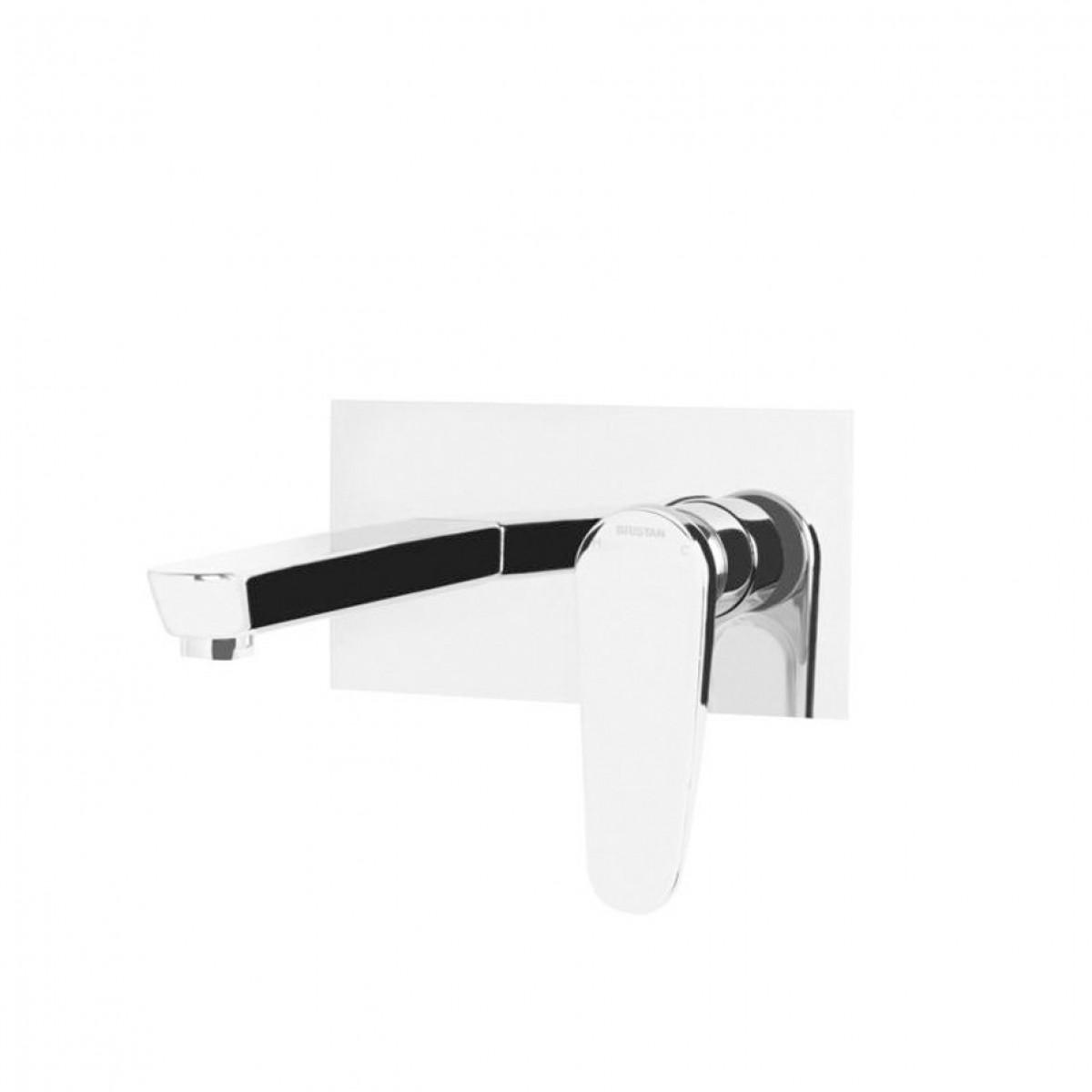 Bristan Claret Wall Mounted Bath Filler White Chrome Clr Wmbf Wht
