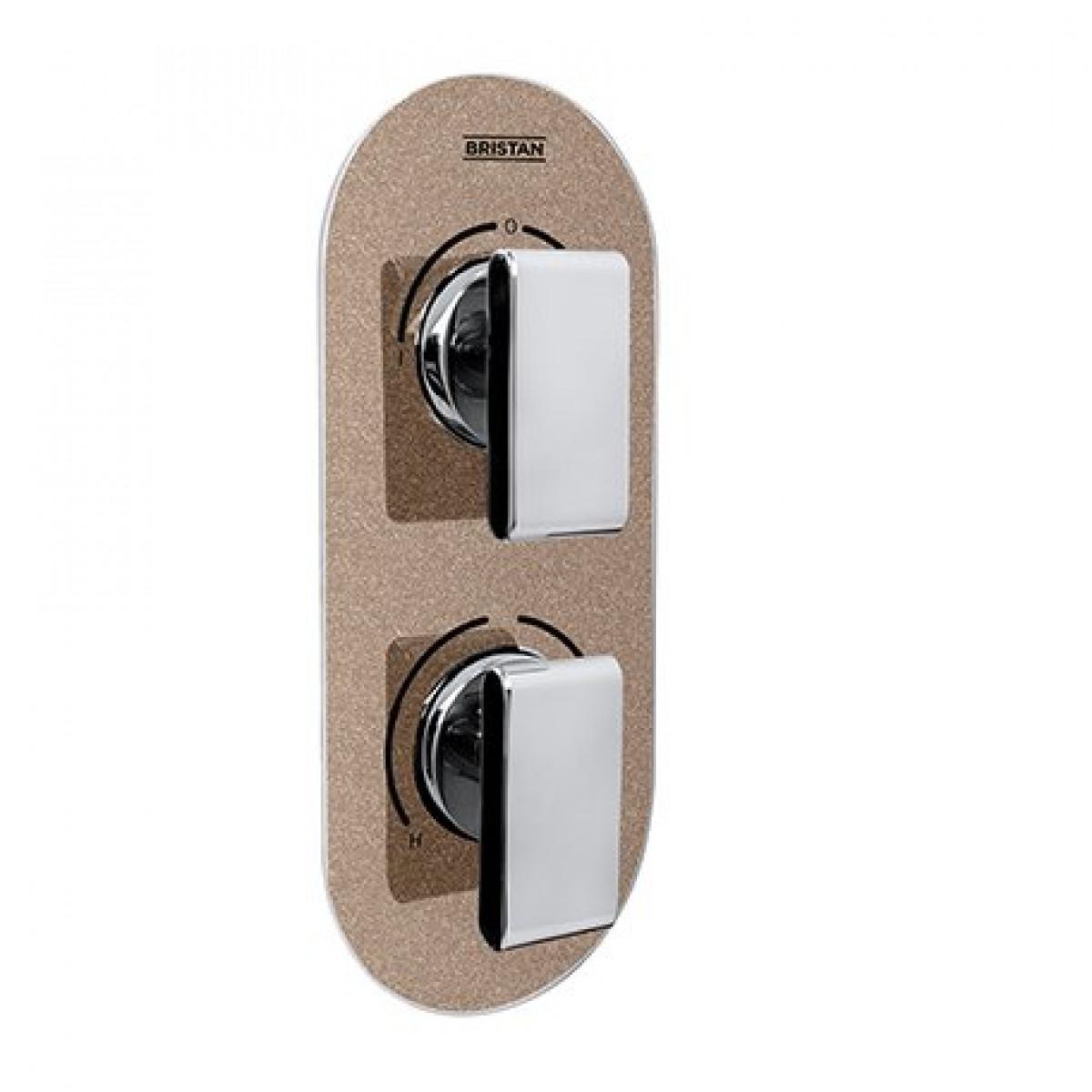 Pivot Control Valve : Bristan metallix pivot thermostatic recessed dual control