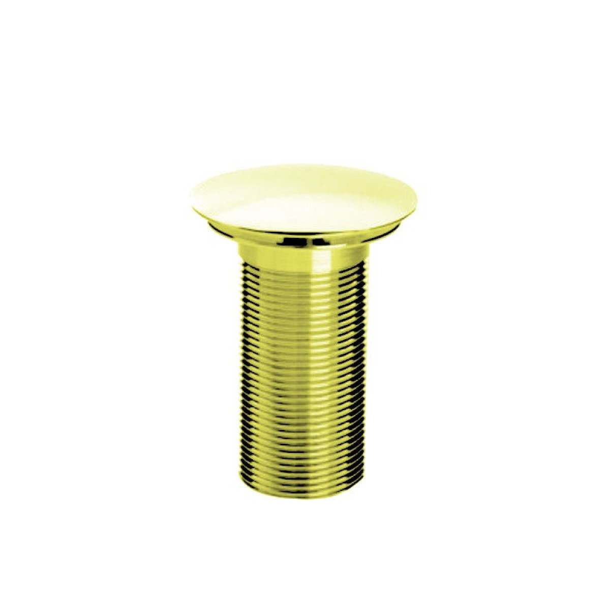 Bristan round clicker basin waste with clicker rd gold plated unslotted - Rd wastebasket ...