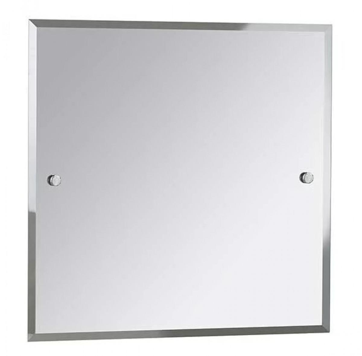 Bristan square bathroom mirror 600mm x 600mm chrome for Mirror 600 x 600
