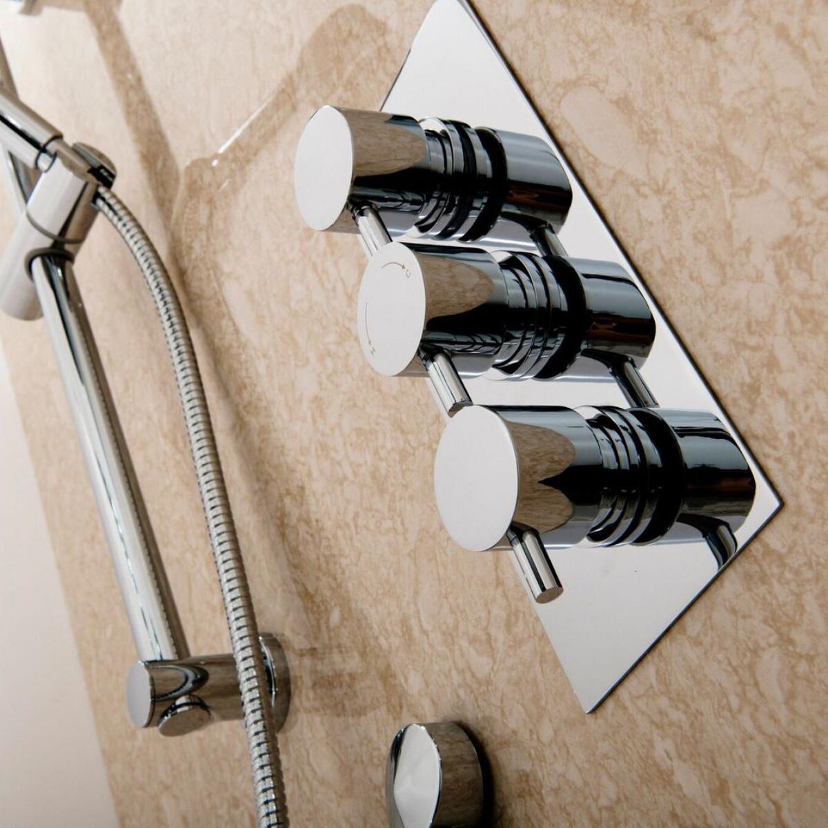 Cassellie Delphin Triple Thermostatic concealed shower valve   CVT002