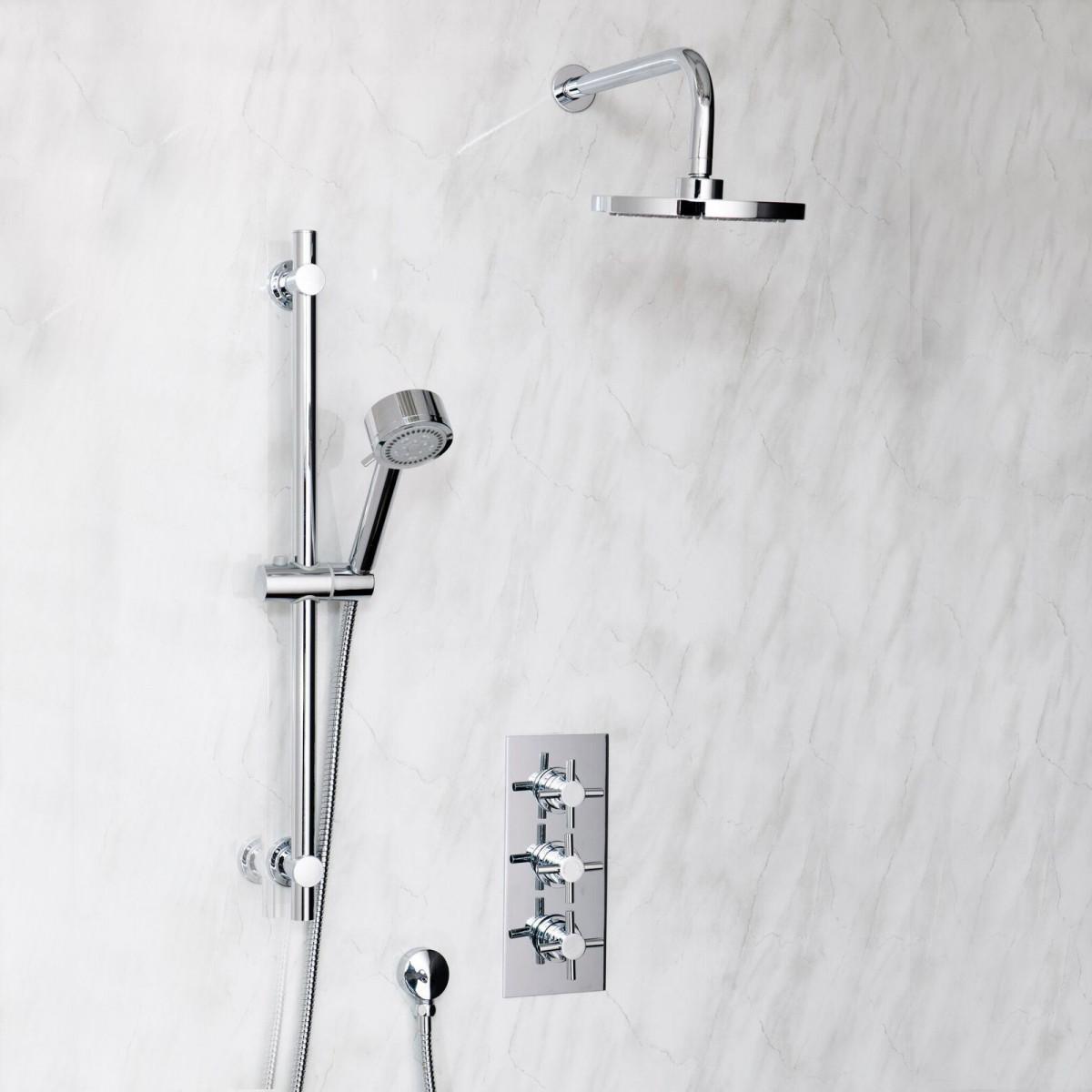 Cassellie Reno Triple Crosshead Concealed Shower Valve   CVT003 -