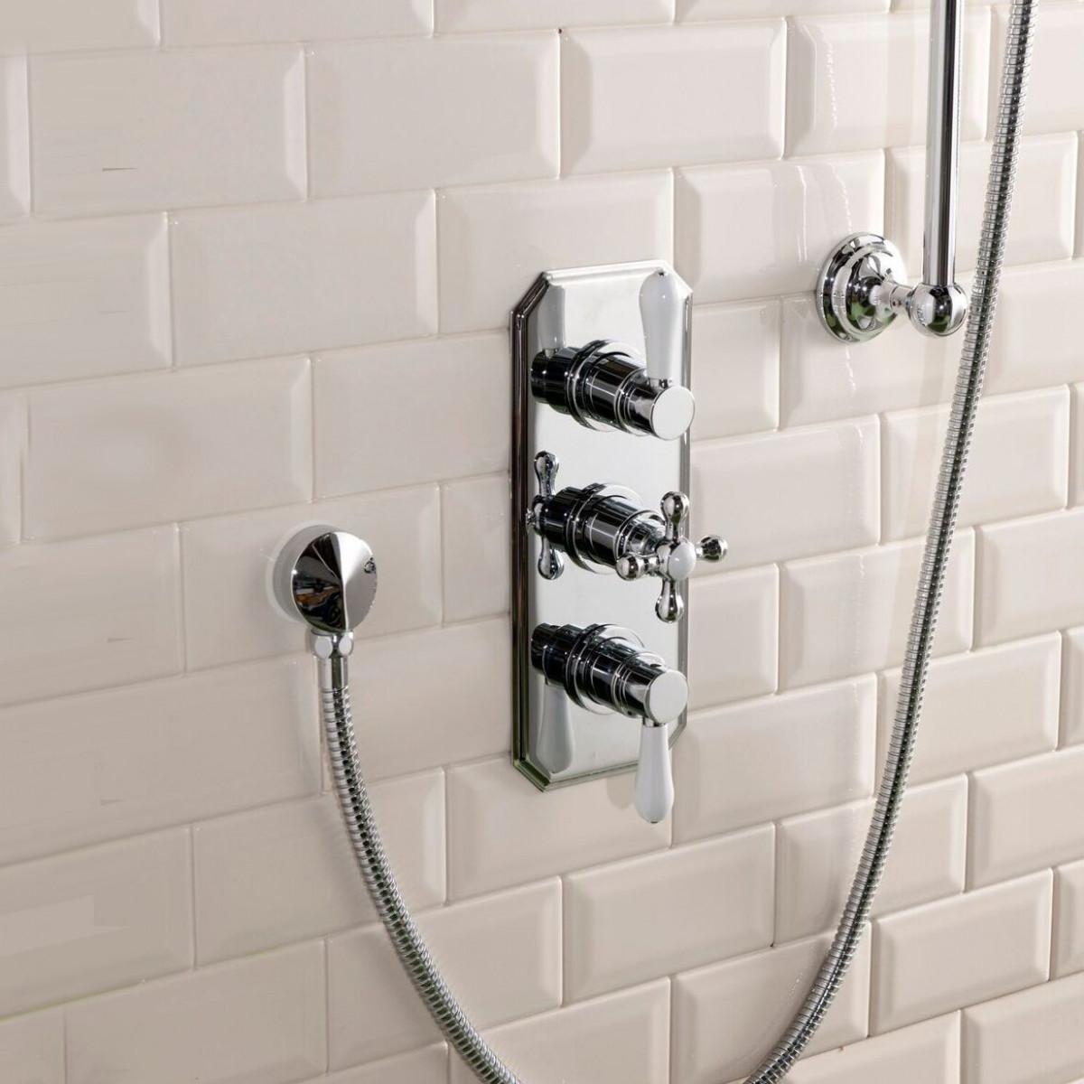 cassellie tudor triple concealed shower valve trad003. Black Bedroom Furniture Sets. Home Design Ideas