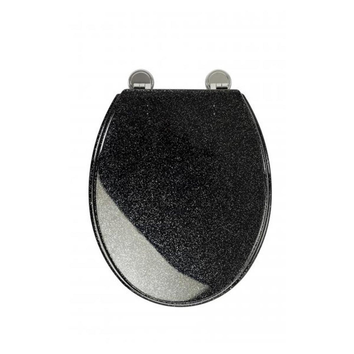 croydex black glitter toilet seat wl101021. Black Bedroom Furniture Sets. Home Design Ideas