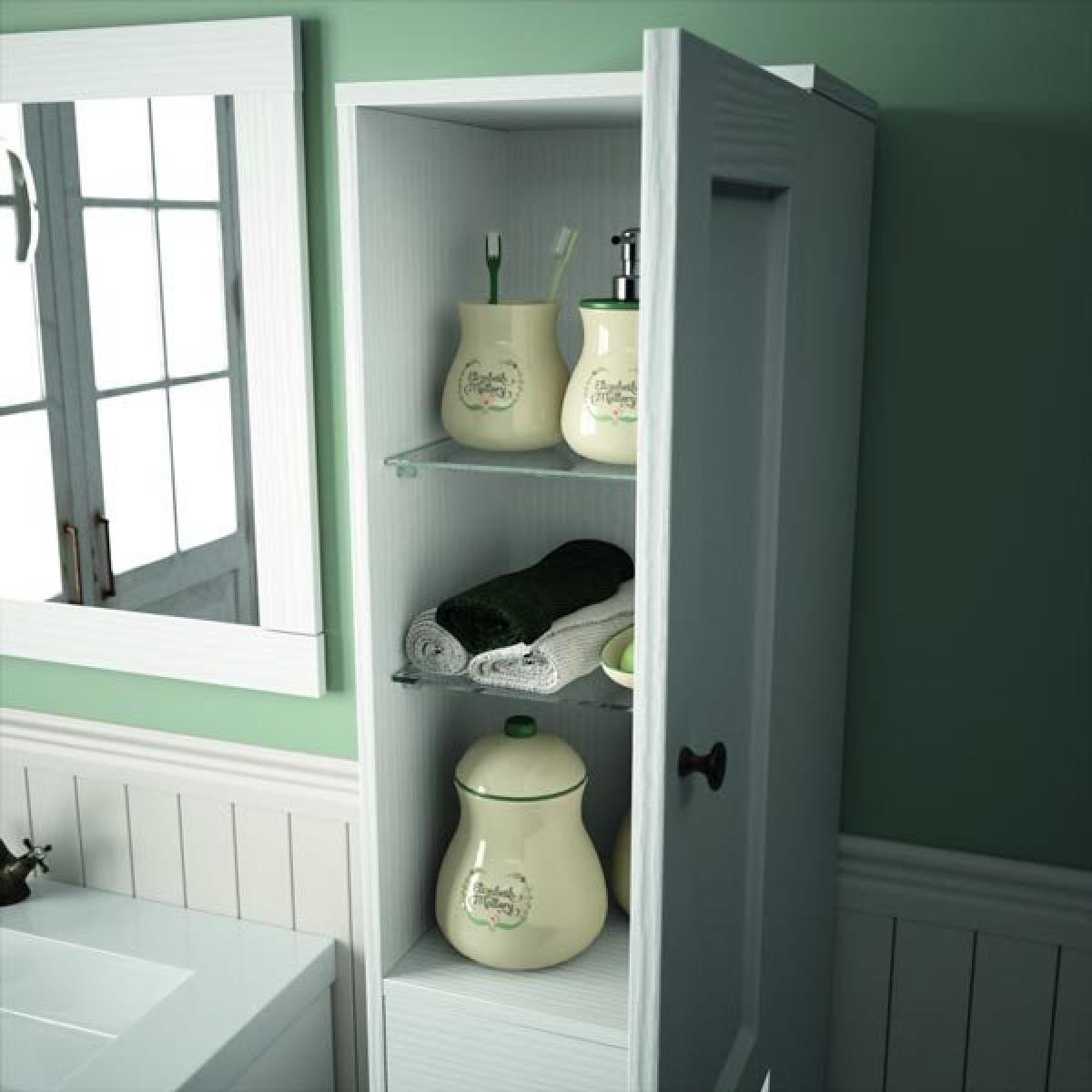 Floor standing bathroom cupboard