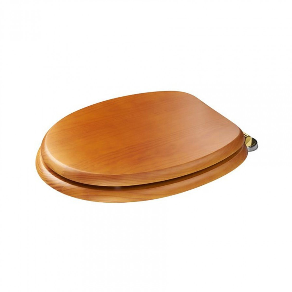 Croydex Douglas wooden toilet seat in pine with brass hinges