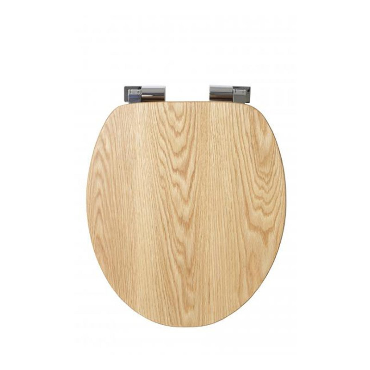 Croydex Fitzroy Solid Oak Toilet Seat With Soft Close