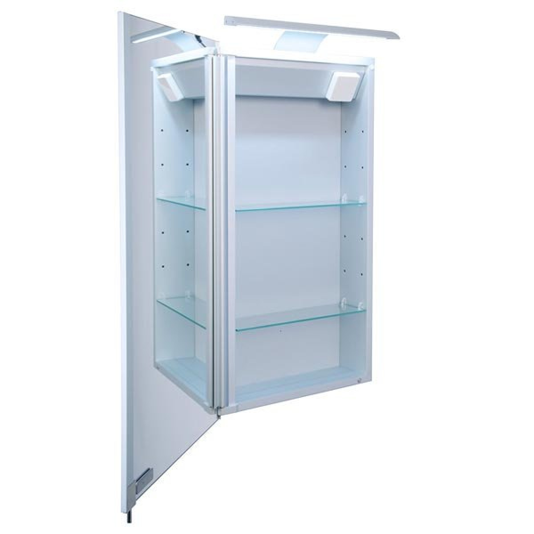 Croydex Jefferson Single Door Illuminated Cabinet
