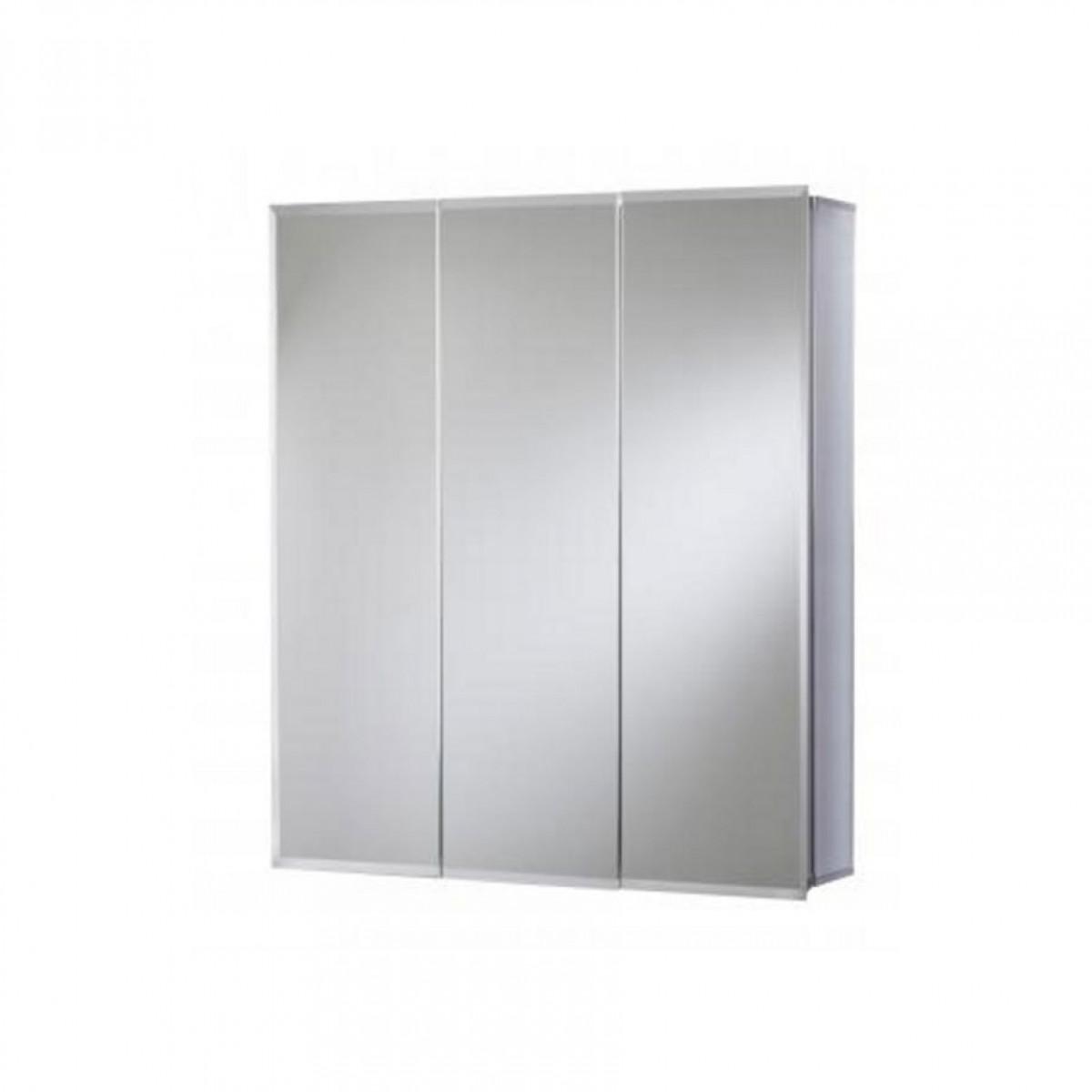 croydex loexley triple door tri view cabinet wc101869