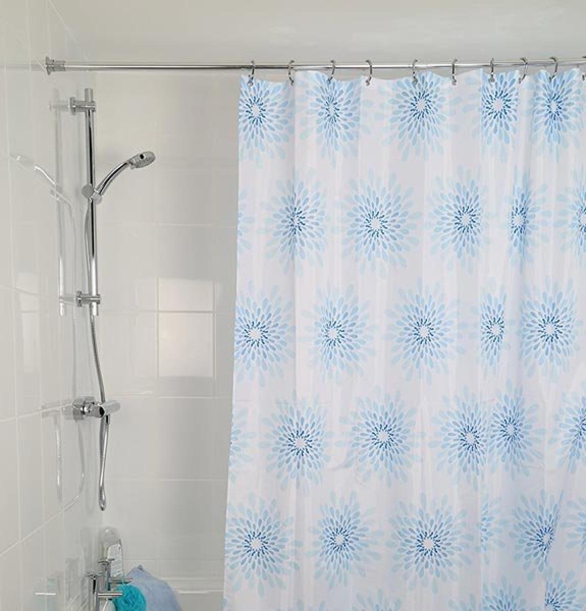 croydex textile shower curtain splash af288424. Black Bedroom Furniture Sets. Home Design Ideas