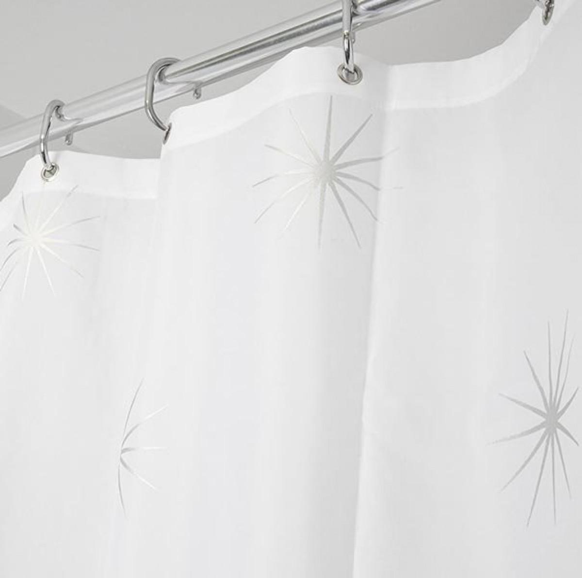 croydex textile shower curtain stellar af584740. Black Bedroom Furniture Sets. Home Design Ideas