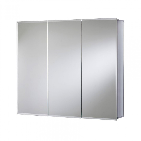 croydex westbourne triple door tri view cabinet wc102322