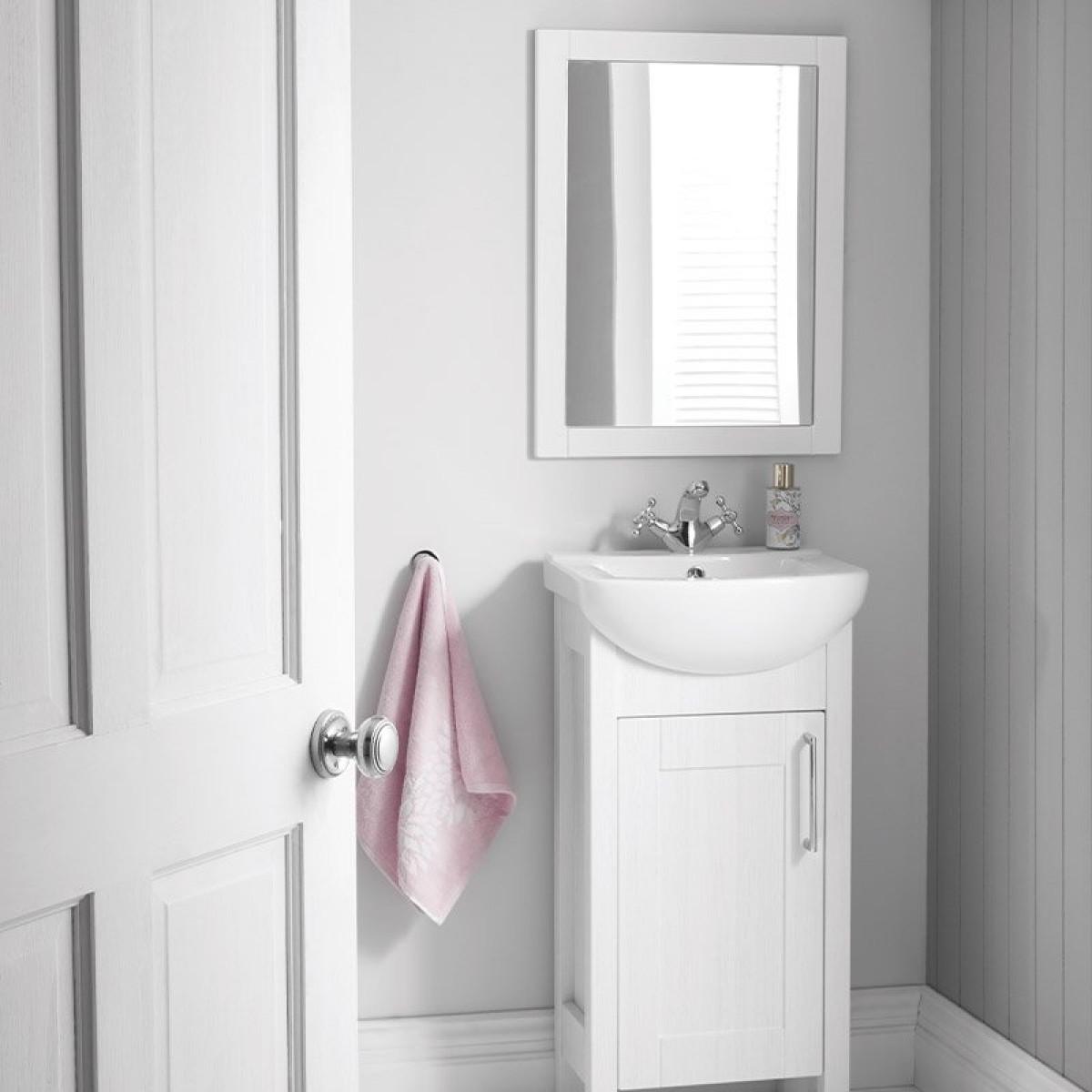 Elation Sendai 450mm Natural Oak Framed, Oak Framed Mirrors Bathroom