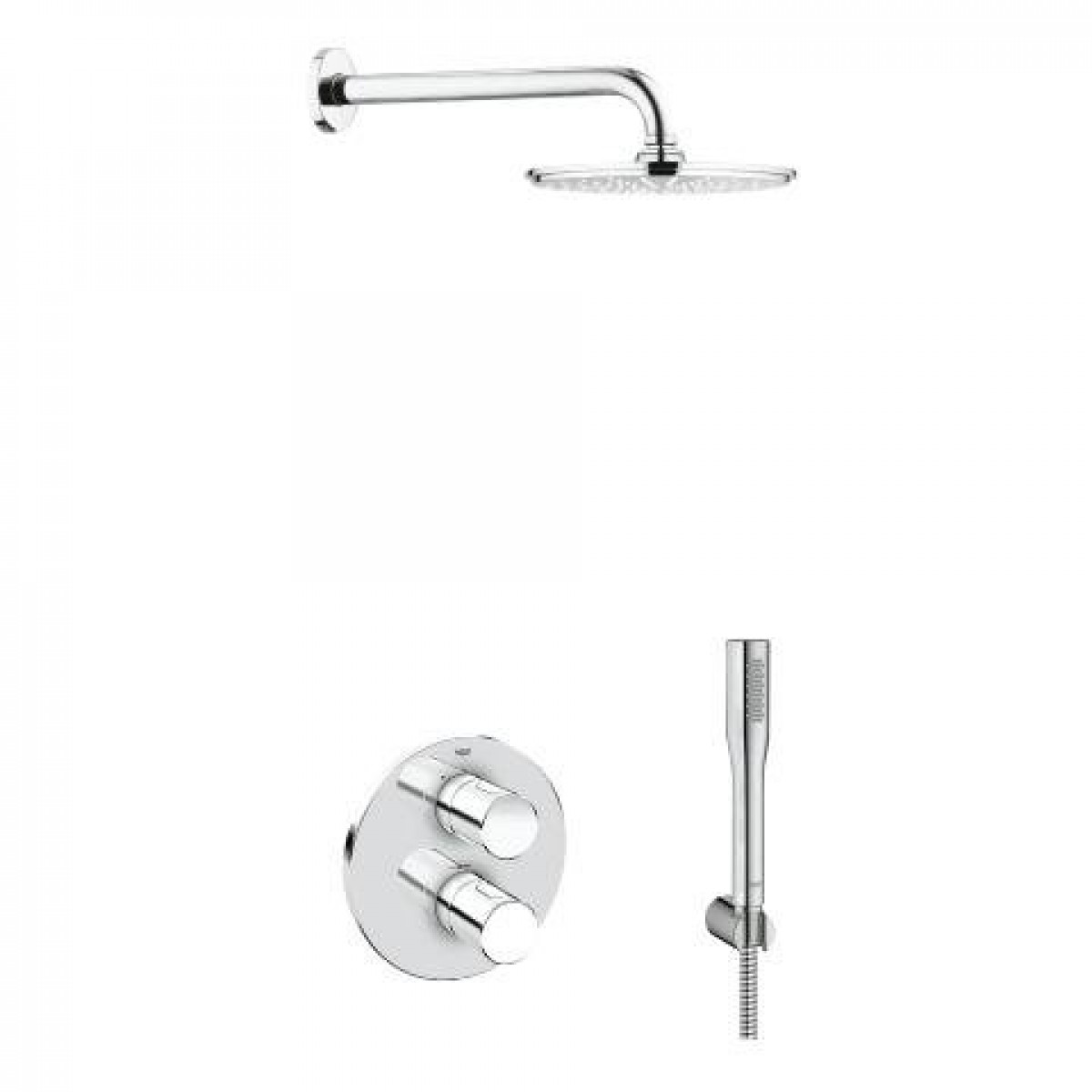 grohe grohtherm 3000 cosmo rainshower solution pack 4 118323. Black Bedroom Furniture Sets. Home Design Ideas