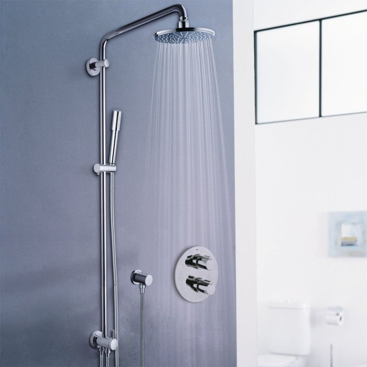 Extrem Grohe Rainshower 210 Shower System With Diverter For Wall Mounting MY84