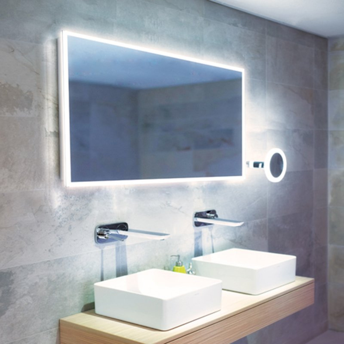 Hib Globe 120 Led Steam Free Illuminated Mirror 78700000