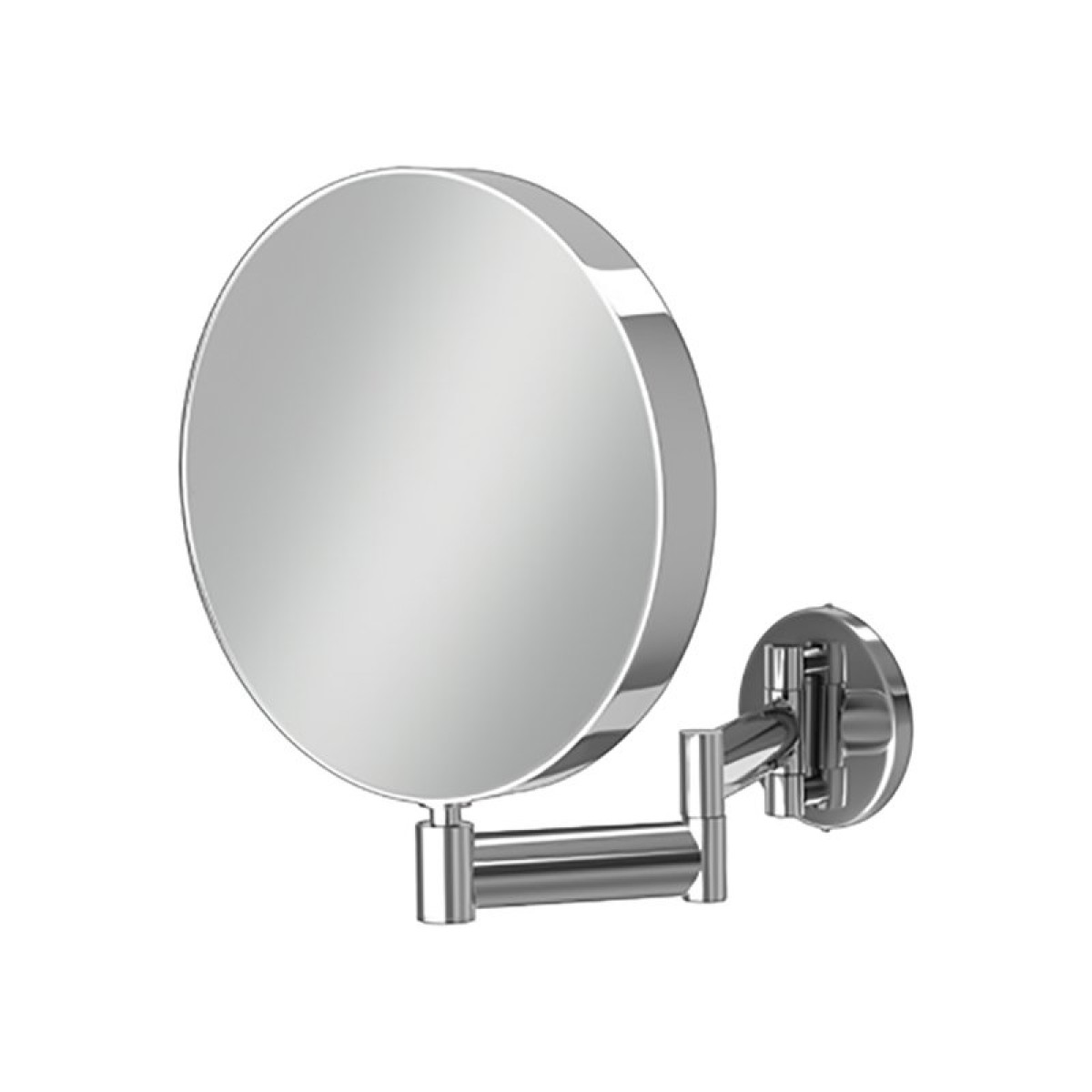 Hib helix round magnifying mirror 21300 for Round bathroom mirrors
