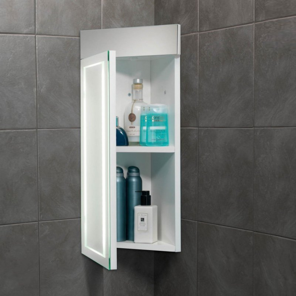 hib minnesota led illuminated corner cabinet 9102100 -