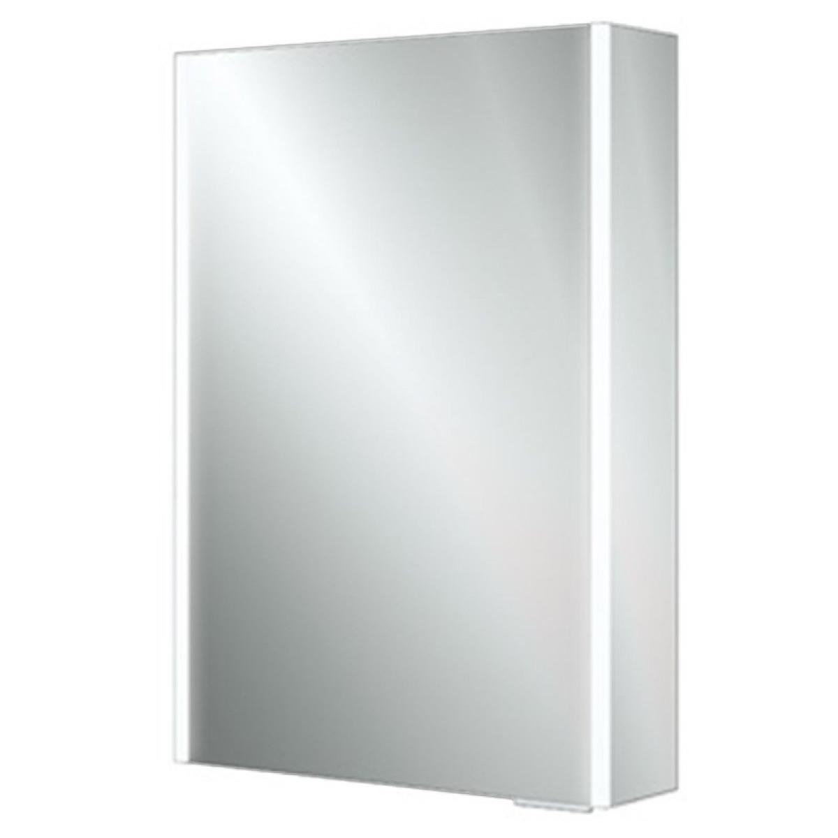 Hib xenon 50 led aluminium illuminated bathroom cabinet for Bathroom cabinets led