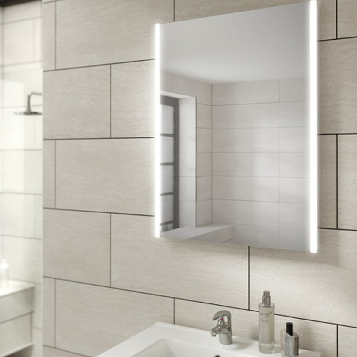 steam free bathroom mirrors hib zircon 50 led steam free bathroom mirror 77600000 20674