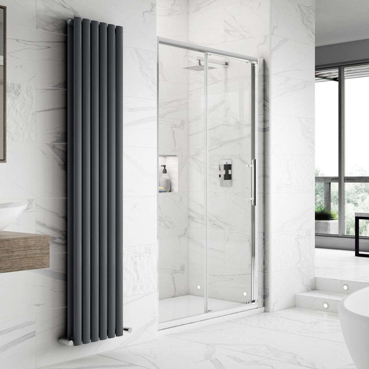 Hudson reed apex sliding shower door 1000mm m1000ss e8 for 1000mm sliding shower door