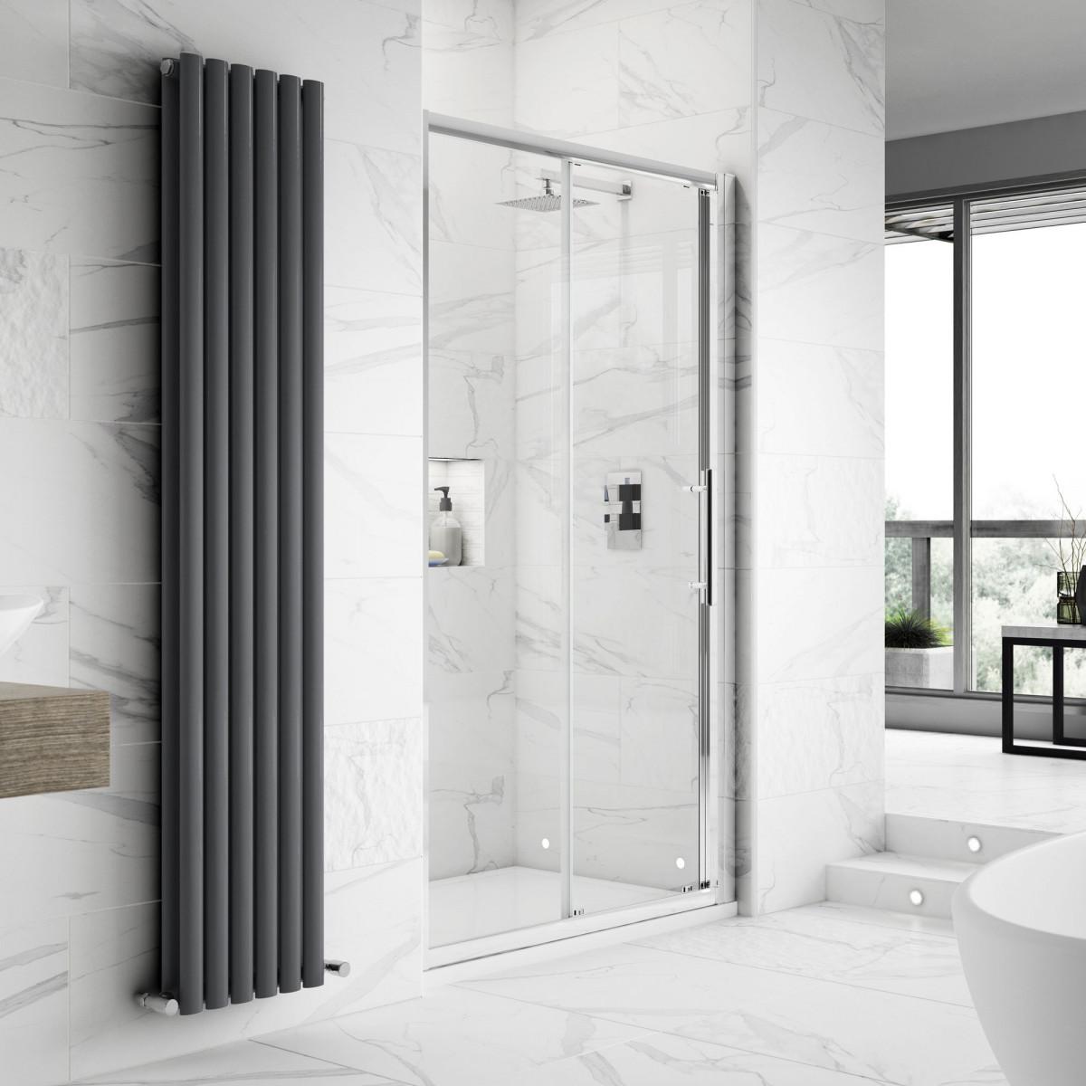 Hudson Reed Apex Sliding Shower Door 1200mm M1200ss E8