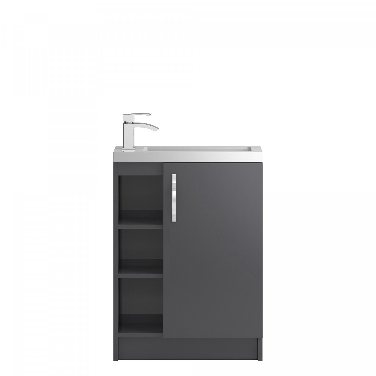 Hudson Reed Apollo Compact Open Shelf Floorstanding 600mm